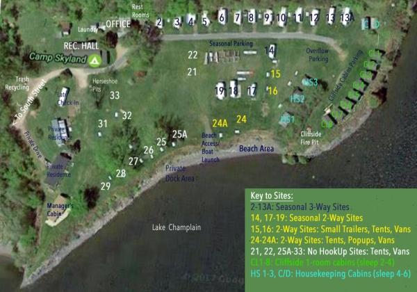 Camp Skyland Campsite Map1